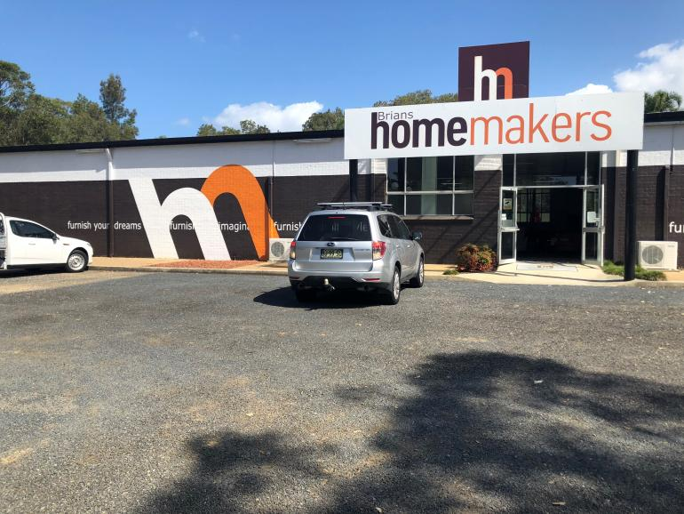 Brians Homemakers Furniture. Store Location 97 The Lakes Way, Forster,